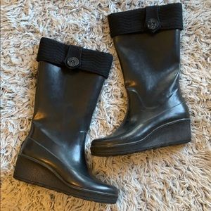 Sperry  topsiders rain boots size 9